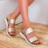 zlatni-damski-niski-sandali